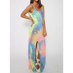 Print Sleeveless Sheath Casual Maxi Dresses