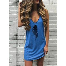 Load image into Gallery viewer, Print Sleeveless Shift Above Knee Casual Dresses