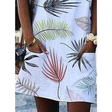 Load image into Gallery viewer, Print Sleeveless Shift Above Knee Casual/Vacation Dresses