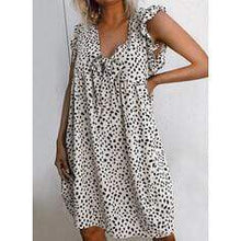 Load image into Gallery viewer, Print Sleeveless Shift Knee Length Casual Dresses