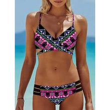 Load image into Gallery viewer, Print Strap Sexy Boho Bikinis Swimsuits