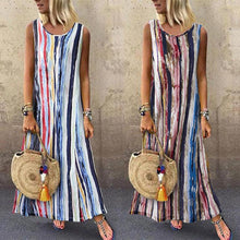 Load image into Gallery viewer, Printed Round Neck Midi Tank Dress