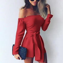 Load image into Gallery viewer, Tina's Off-Shoulder Romper