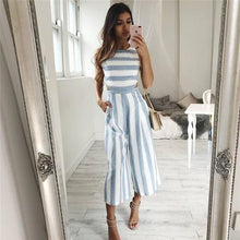 Load image into Gallery viewer, Kim's Striped Jumpsuit