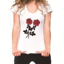 Load image into Gallery viewer, Rose Short Sleeve Round Neck T-Shirt