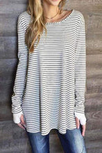 Load image into Gallery viewer, Round Neck  Asymmetric Hem  Striped Casual Dresses  | iluver