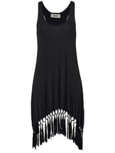 Load image into Gallery viewer, Round Neck  Fringe  Shift Dress
