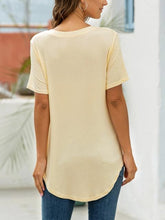 Load image into Gallery viewer, Short Sleeve V-neck Basic T-shirt