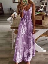 Load image into Gallery viewer, Slim Long Flower Dress