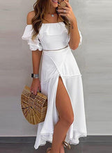 Load image into Gallery viewer, Solid 1/2 Sleeves A-line Casual/Vacation Midi Dresses