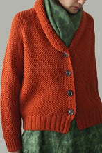Load image into Gallery viewer, Solid Buttons Down V-neck Knitted Cardigan