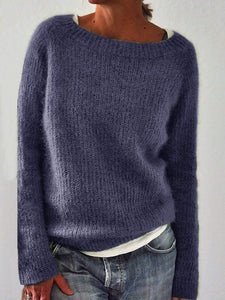 Solid Knitted Sweaters Plus Size Pullovers Jumpers