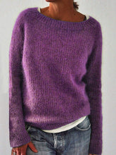 Load image into Gallery viewer, Solid Knitted Sweaters Plus Size Pullovers Jumpers