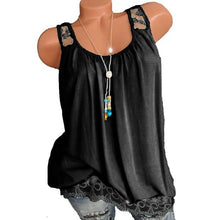 Load image into Gallery viewer, Solid Off-Shoulder Lace Hem Vest