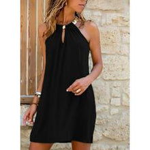 Load image into Gallery viewer, Solid Sleeveless Shift Above Knee Casual Dresses