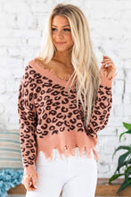 Load image into Gallery viewer, Starlah Leopard Fray Sweater