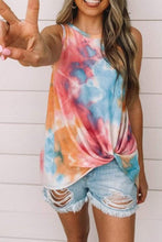 Load image into Gallery viewer, Tie-dye printed gradient color sleeveless vest T-shirt women