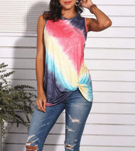 Load image into Gallery viewer, Tie-dye rainbow T-shirt