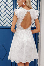 Load image into Gallery viewer, Water-soluble embroidery lace backless dress