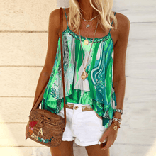 Load image into Gallery viewer, Women's Casual Sling Stitching Tie-dye Print Vest