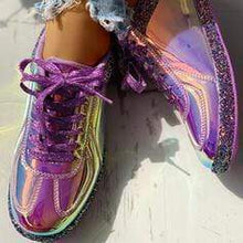 Load image into Gallery viewer, Women's PU Casual Outdoor With Sparkling Glitter Lace-up shoes
