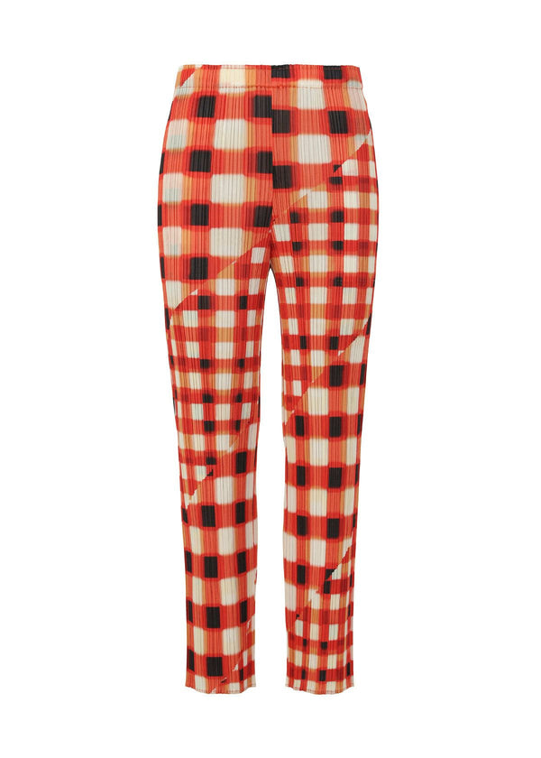 TREK CHECK Trousers Red
