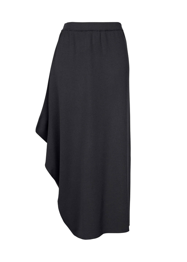 SILKY DRAPE KNIT Skirt Dark Grey