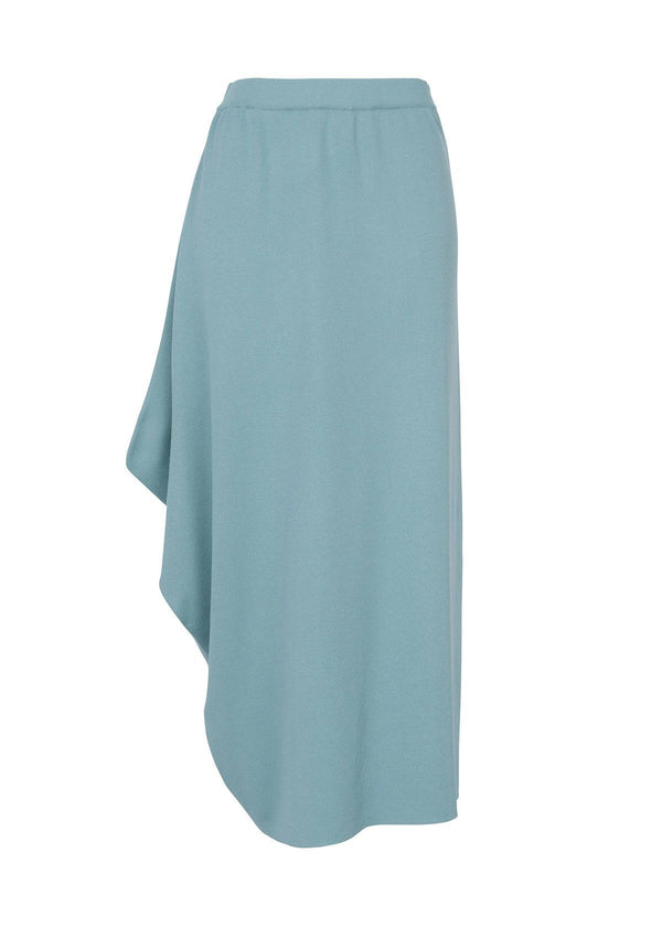 SILKY DRAPE KNIT Skirt Light Blue