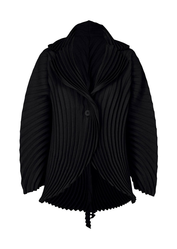 WRAPPED PLEATS Jacket Black