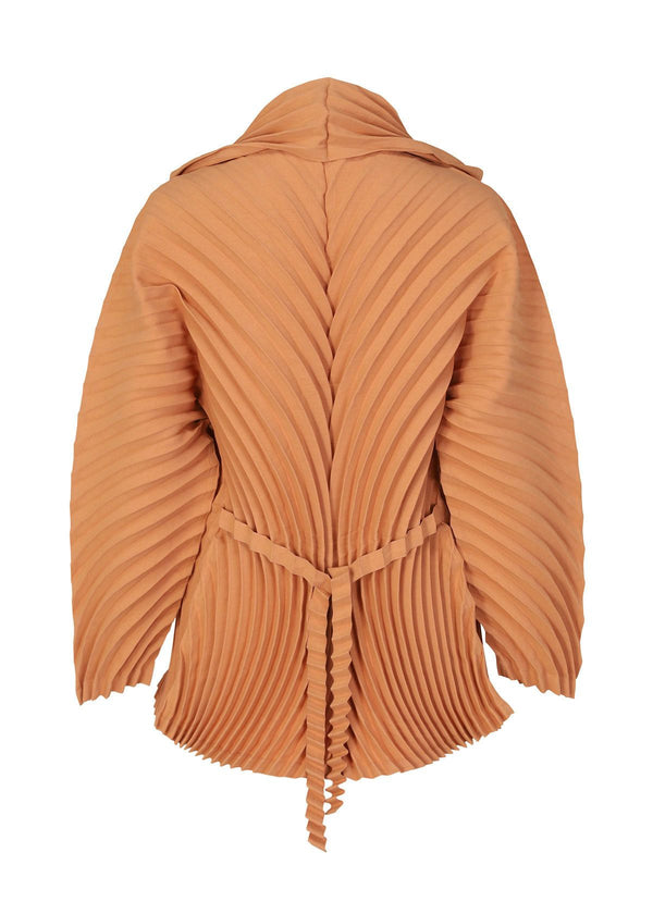 WRAPPED PLEATS Jacket Light Orange