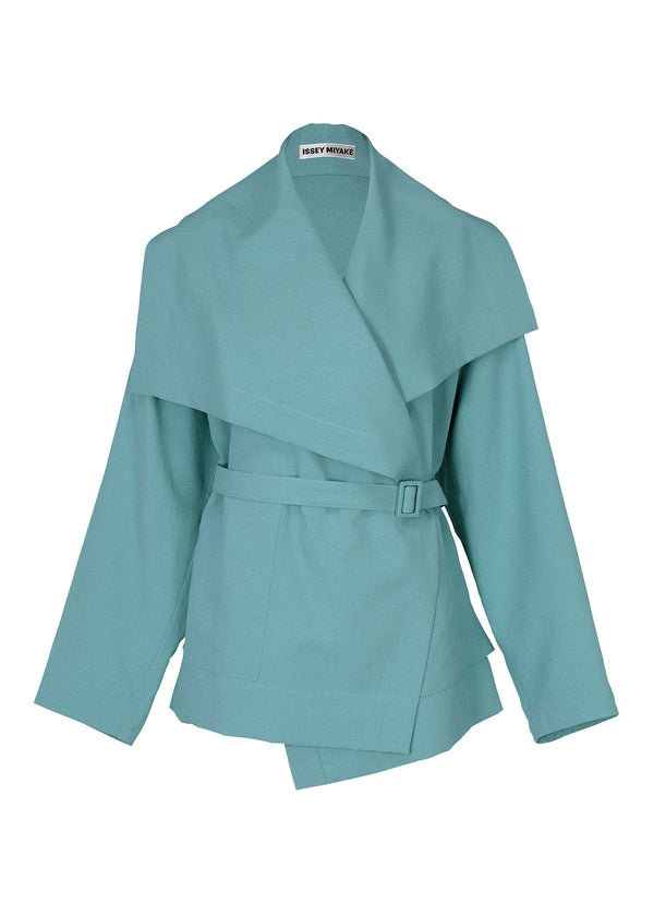 WRAPPED COAT Jacket Light Blue