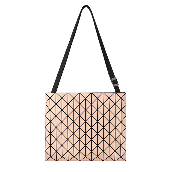 ROW GLOSS Shoulder Bag Pink Beige