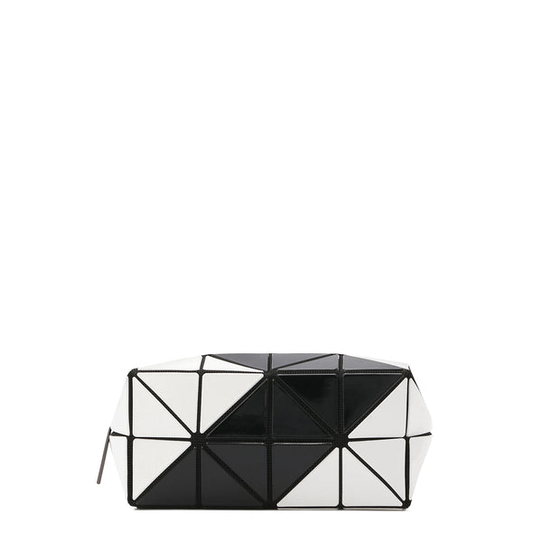 LUCENT ZIGZAG Clutch White x Black