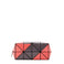 LUCENT ZIGZAG Clutch Coral x Charcoal Grey