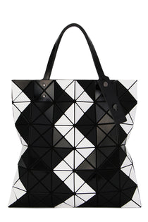 LUCENT ZIGZAG Tote White x Black