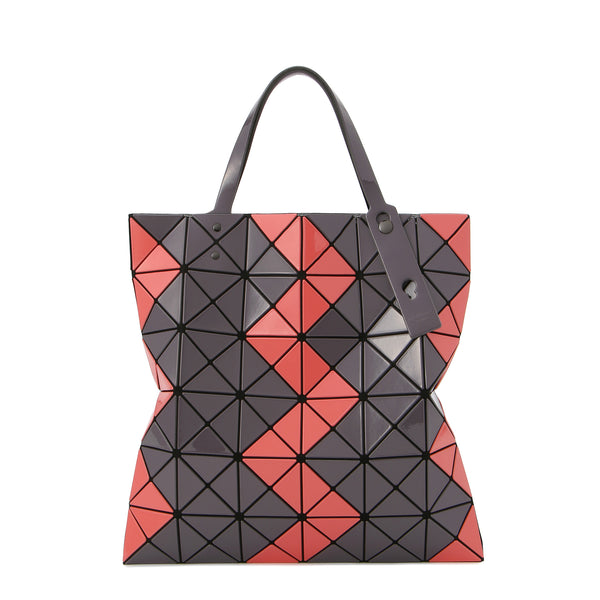 LUCENT ZIGZAG Tote Coral x Charcoal Grey