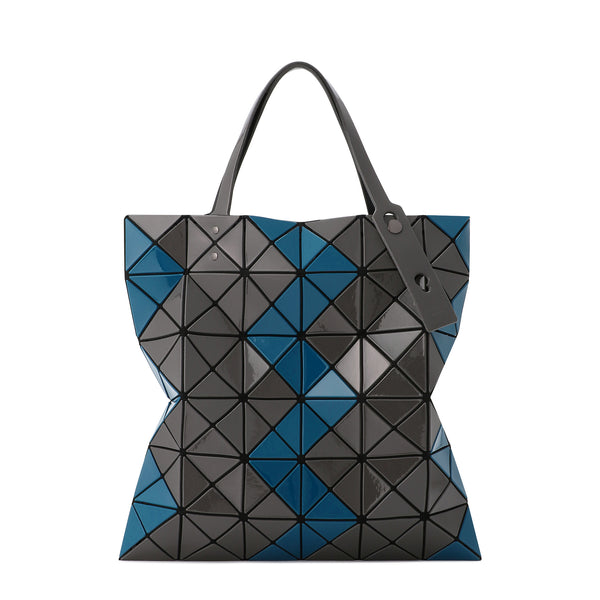 LUCENT ZIGZAG Tote Dark Blue x Dark Grey