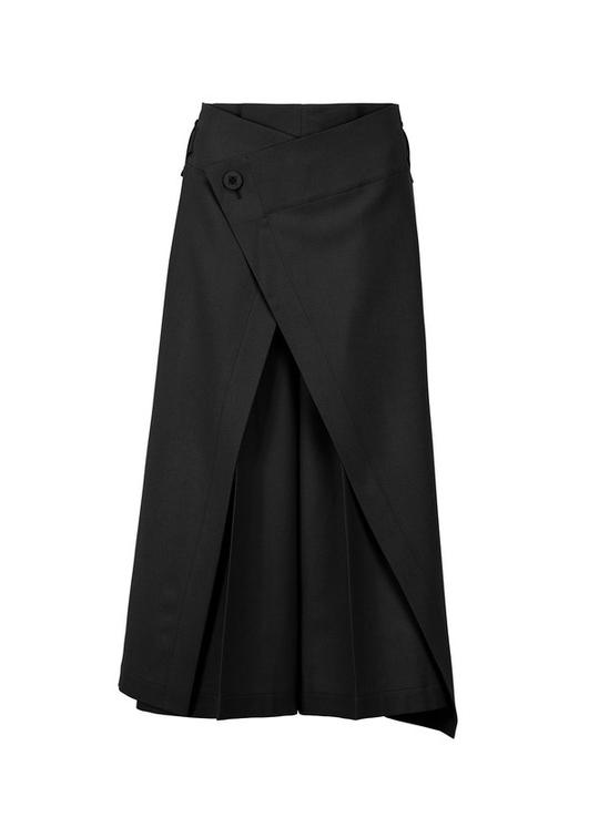 FLAT WOOL BOTTOMS Trousers Black
