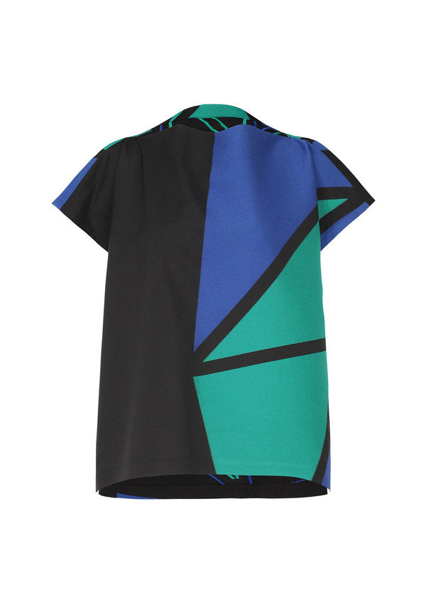 JACQUARD T Shirt Green x Blue