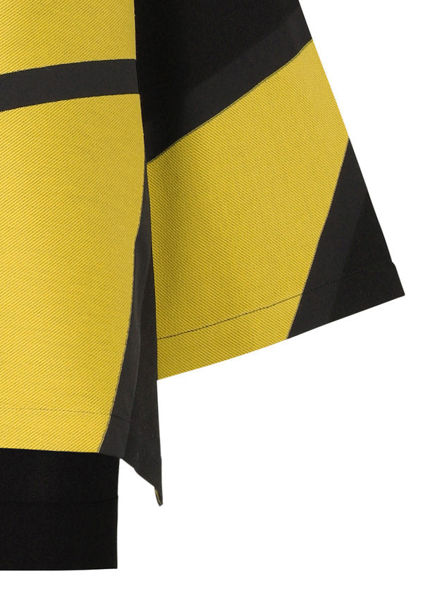 JACQUARD T Shirt Yellow x Black