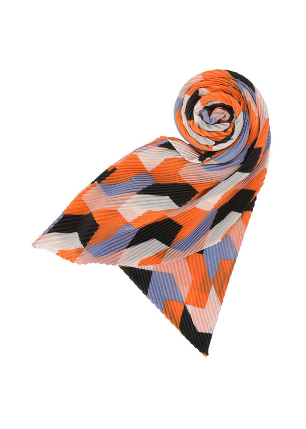 TEMPO PLEATS STOLE Stole Orange-Hued