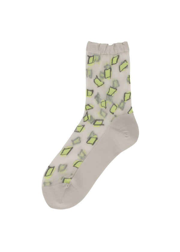 TABLECLOTH SOCKS Socks Light Green-Hued