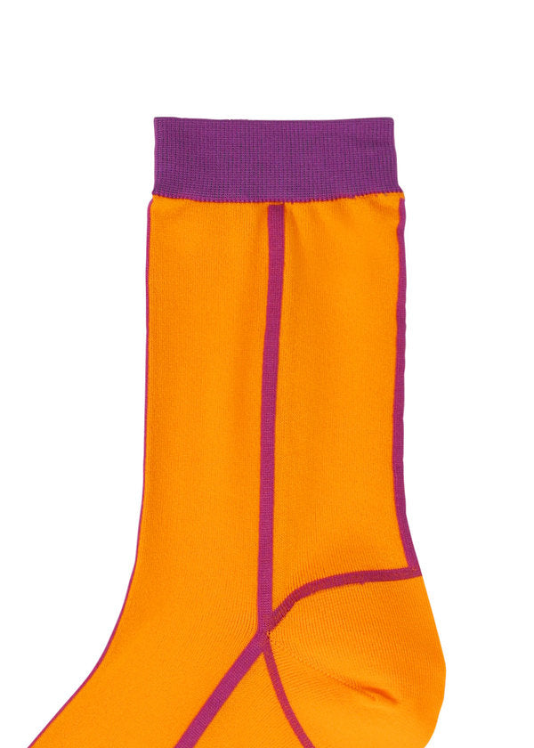 LINE SOCKS Socks Orange-Hued