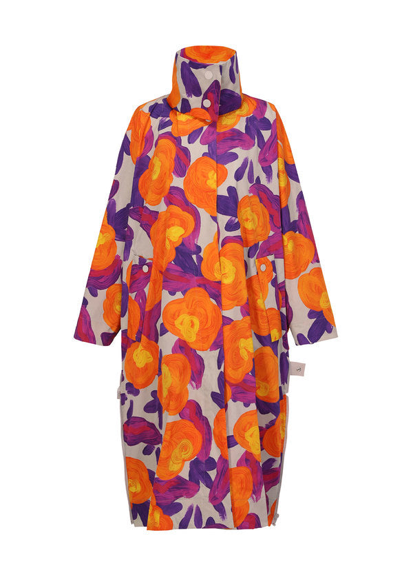 COMPACT BOTANICAL Coat Orange-Hued