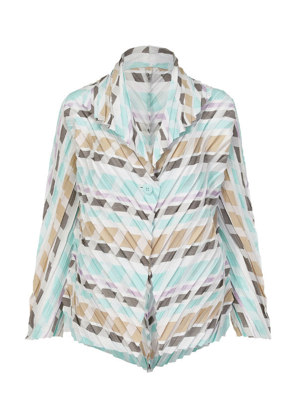 MULTI STRIPE PLEATS Jacket Light Purple-Hued