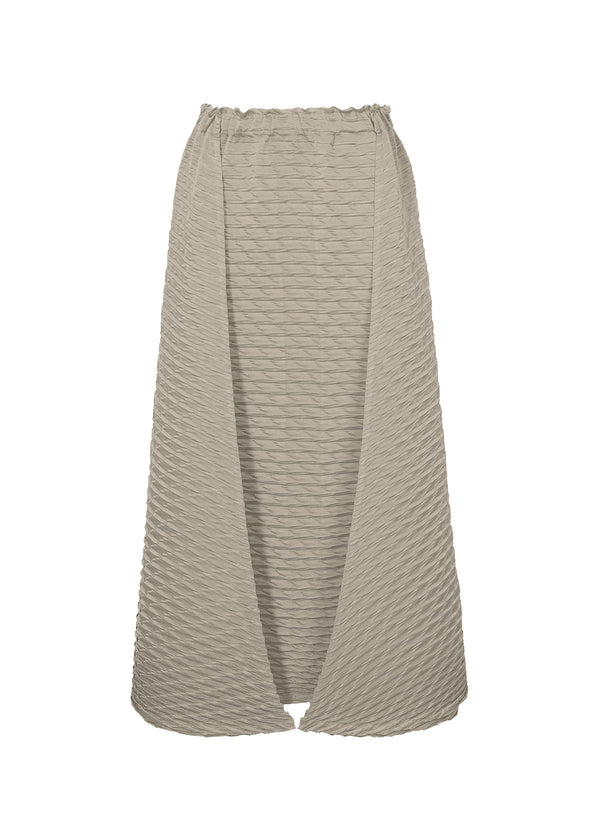 TEMPORARY ROOM PLEATS SOLID Skirt Grey