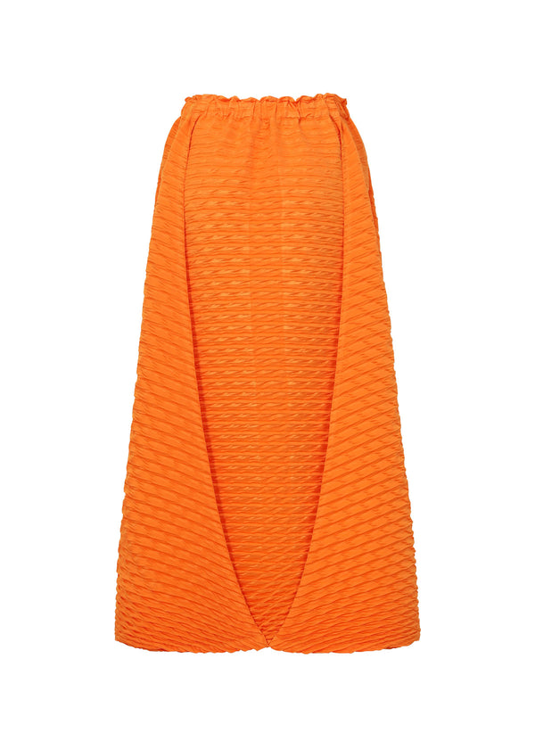 TEMPORARY ROOM PLEATS SOLID Skirt Orange