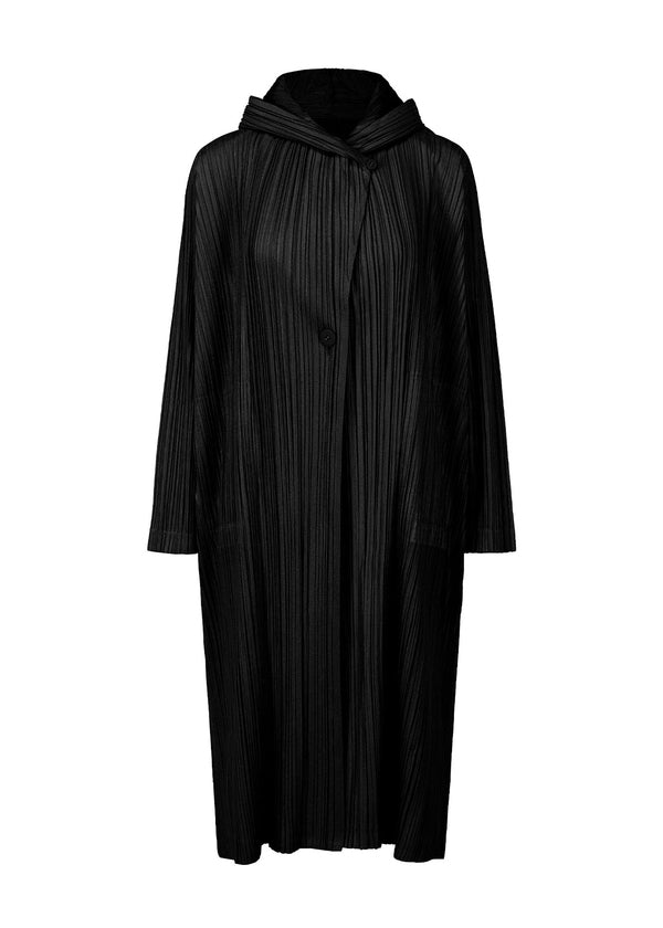 SHINY PLEATS Coat Black
