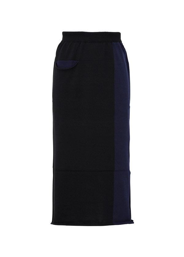 POCKET KNIT Skirt Navy x Black