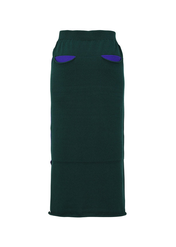 POCKET KNIT Skirt Blue x Green